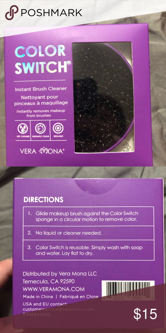Photo of Vera Mona Color Switch 2 / $ 15 NIB NWT Color Switch Makeup Brush Cleaner Color …