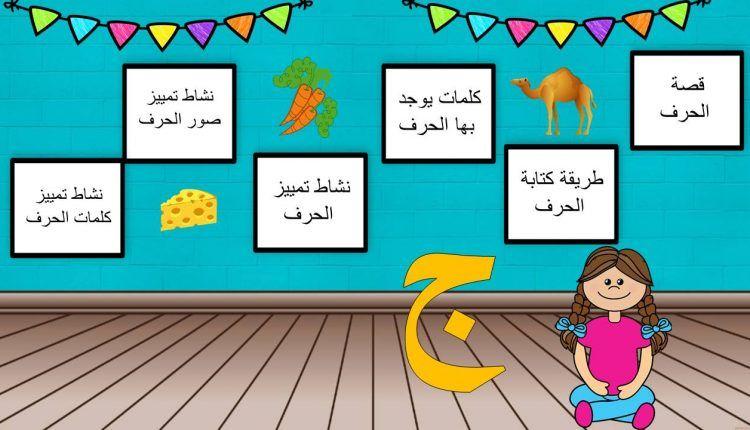 بوربوينت حرف الجيم لتعليم الاطفال الروضة بطريقة مميزة المعلمة أسماء Preschool Classroom Games
