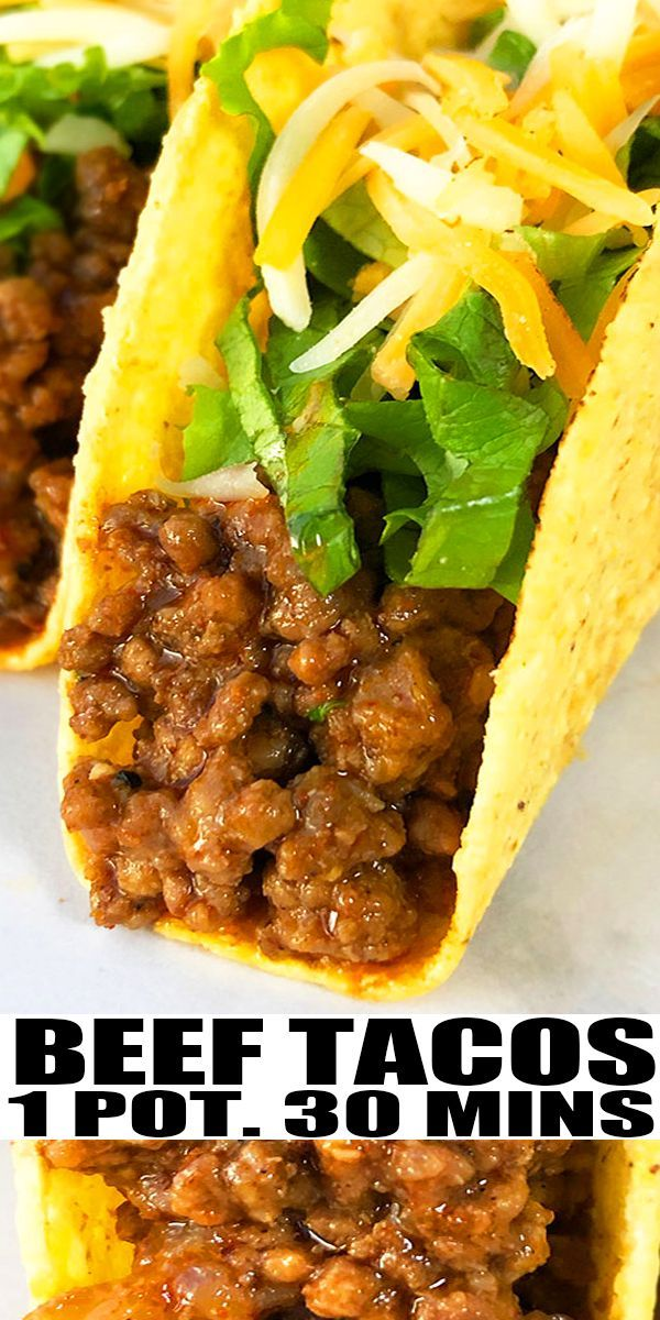 Ground Beef Tacos One Pot In 2020 Ground Beef Tacos Tacos Beef Recipes