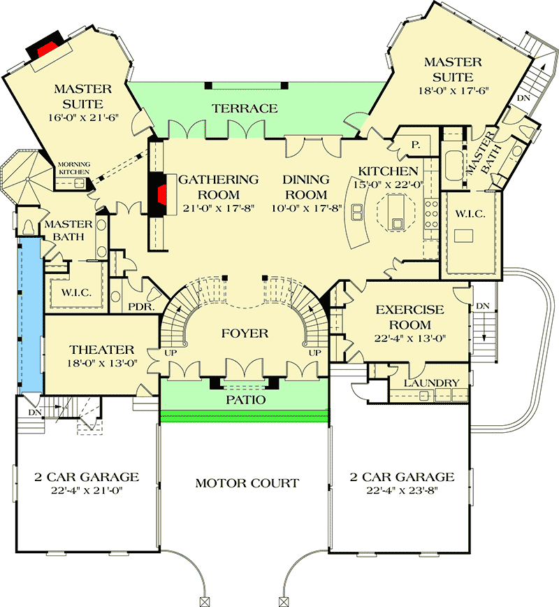Plan 17647lv Dual Master Suites Master Suite Floor Plan Master Bedroom Layout Architectural Design House Plans