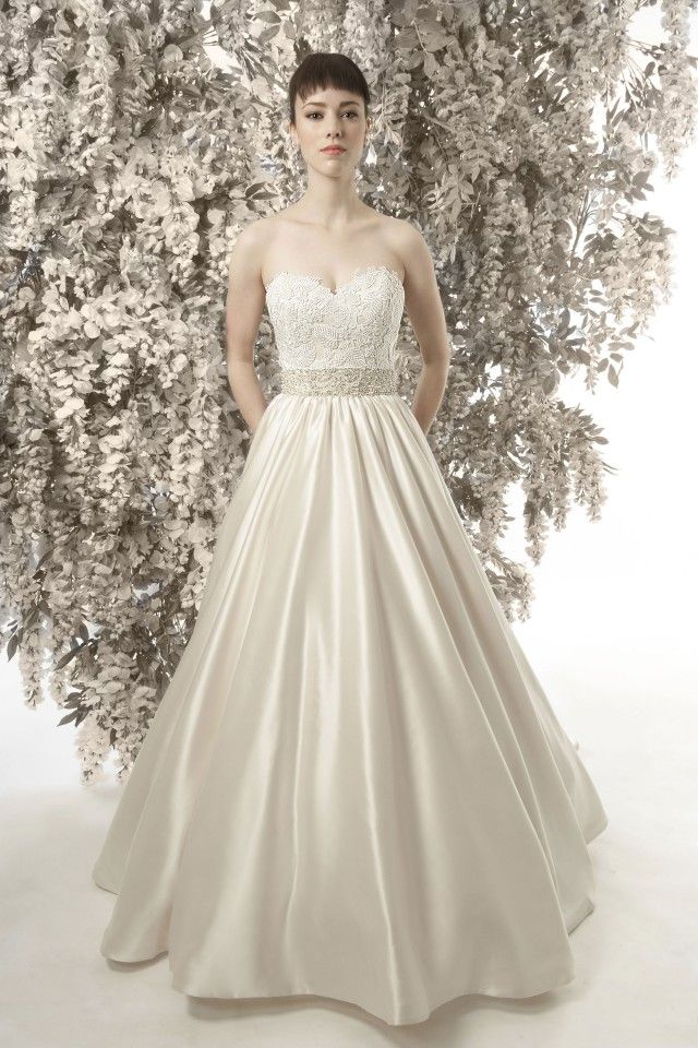 CHRISTINE DANDO DESIGNS. Katharine Hepburn A Line Wedding Dress ...