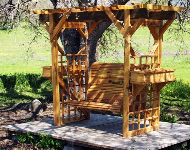 Rustic Outdoor Dining Set | Outdoor Swing Furniture, Chair Swings, Bench  Swings, Rustic