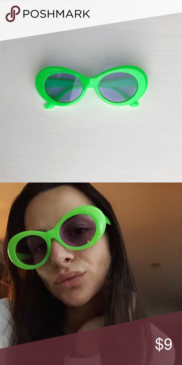 1fbfbcd1c95e Neon Green Clout Goggles Kurt Cobain glasses or clout goggles • unisex •  Supreme style neon green frame • transparent neutral lenses • similar to  the Acne ...