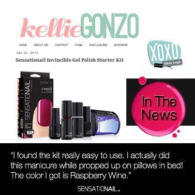 Sensationail in the news thanks to kelliegonzo for this sensationail gel nail polish up to 2 weeks of dazzling damage proof nails do it yourself manicure from home the at home diy gel polish brand solutioingenieria Image collections