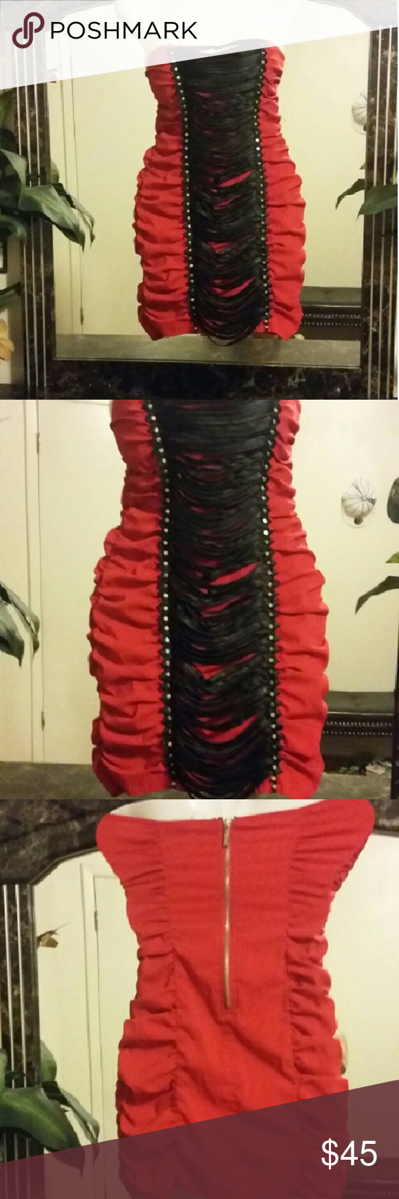 Small Dress Beautiful lacy dress great condition the only thing is the padding inside of the broad area is a little moved around but can be fixed. Please do not ask me to model this dress does not fit me :(  oh and one more thing this dress I do not have the straps anymore Dresses