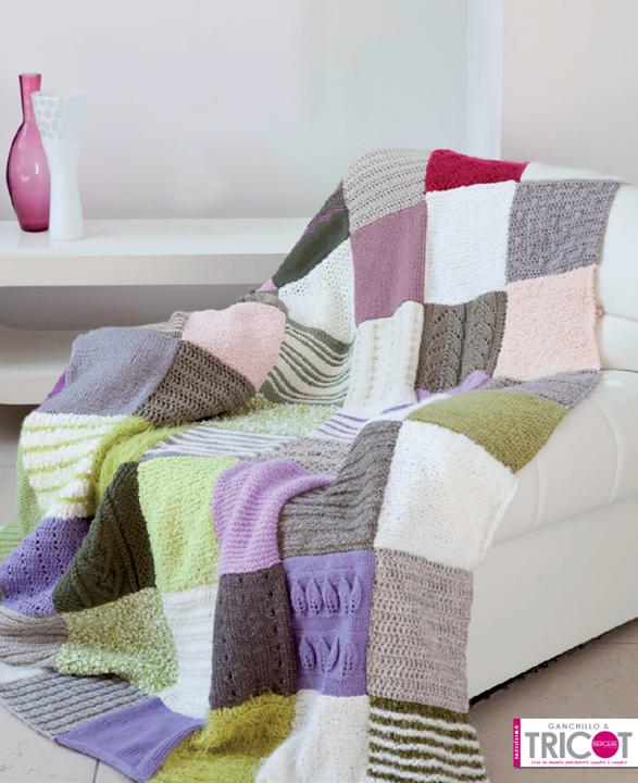 Manta patchwork ganchillo y tricot desde los - Mantas lana ganchillo ...