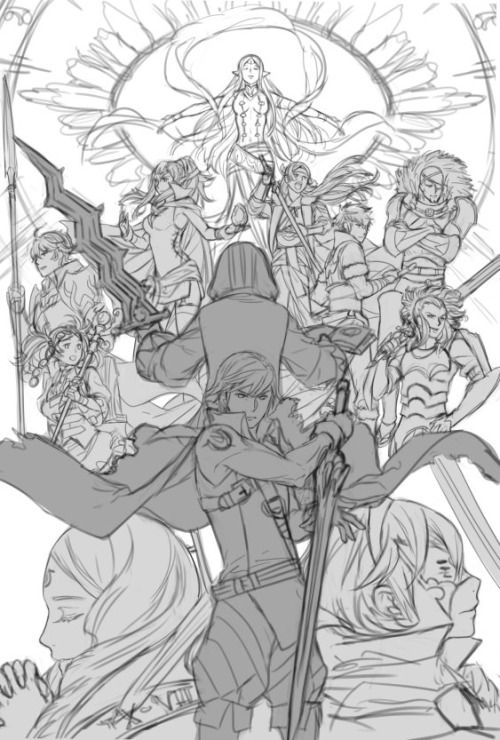 another wip of my last probably fe print for upcoming cons