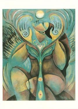 Images of Spirit, Empowering Women, Honoring the Sacred Feminine Seated Angel Flying , Mara Brendt Friedman