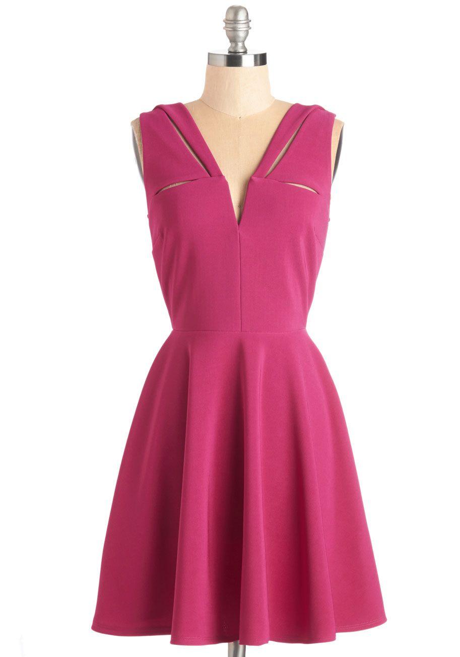 Have a Niche Evening Dress in Magenta   Dresses   Pinterest   Molde ...