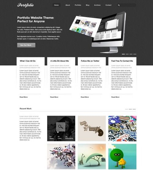 Resume Website Template Freeportfoliopsdtheme  Webdesign Ui  Templates  Pinterest