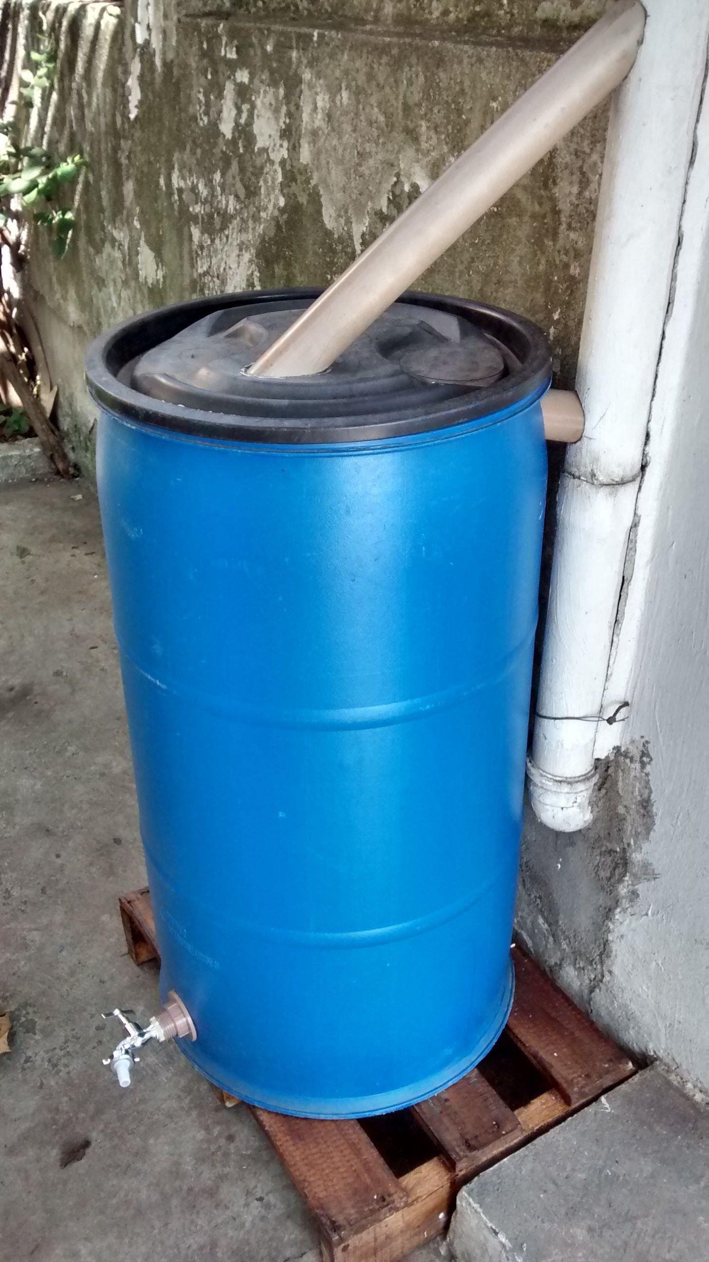 sistema de captação de água da chuva caseiro foto arquivo kampa