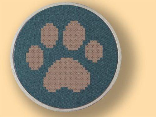 """Tiger"" paw cross stitch"