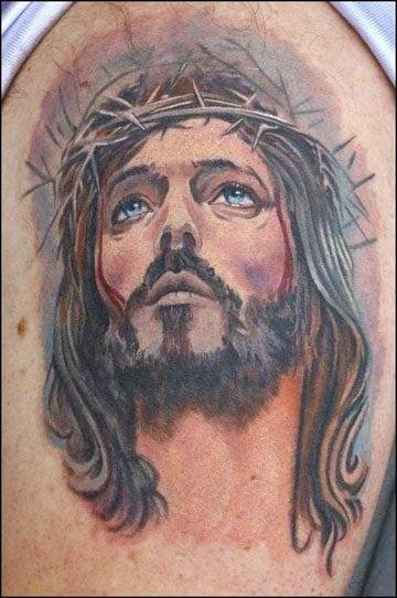 Tatuajes De Jesus En 3d En El Brazo Para Hombres Y Mujeres