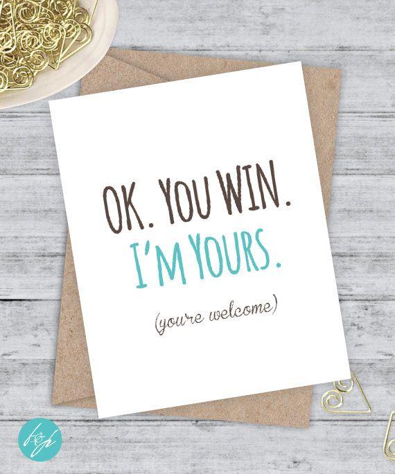 Birthday Card Boyfriend Card Funny Birthday Card I Love You Card