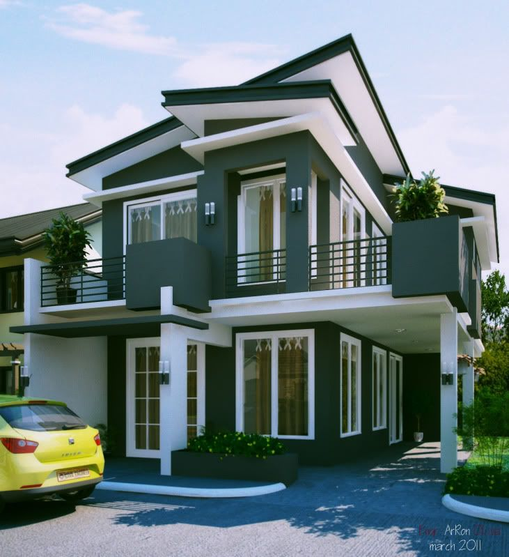 Contemporary Three Storied Residential Building: 2 Storey Residential House Design - Google Search