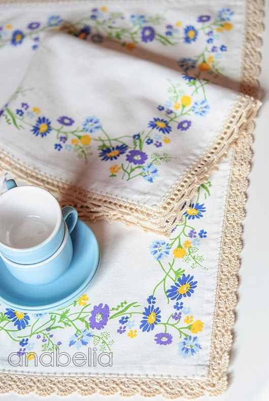 Crochet borders for individual tablecloth by Anabelia | aprender ...