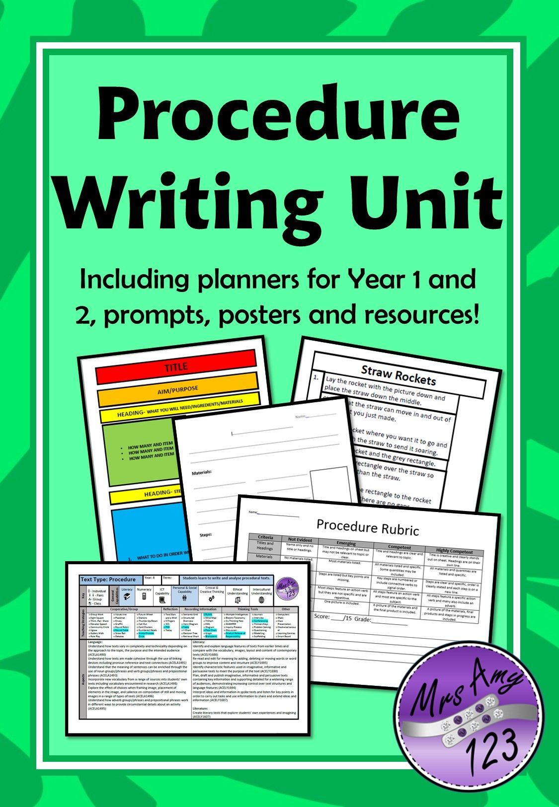 Procedure Writing Unit Year 1 And 2