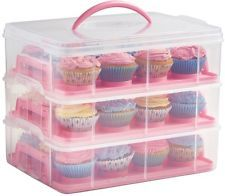 Check This Out! VonShef 3 Tier Cupcake Carrier Pink #OnSale #Discount #Shopping #AddMe #FollowMe #BestPins
