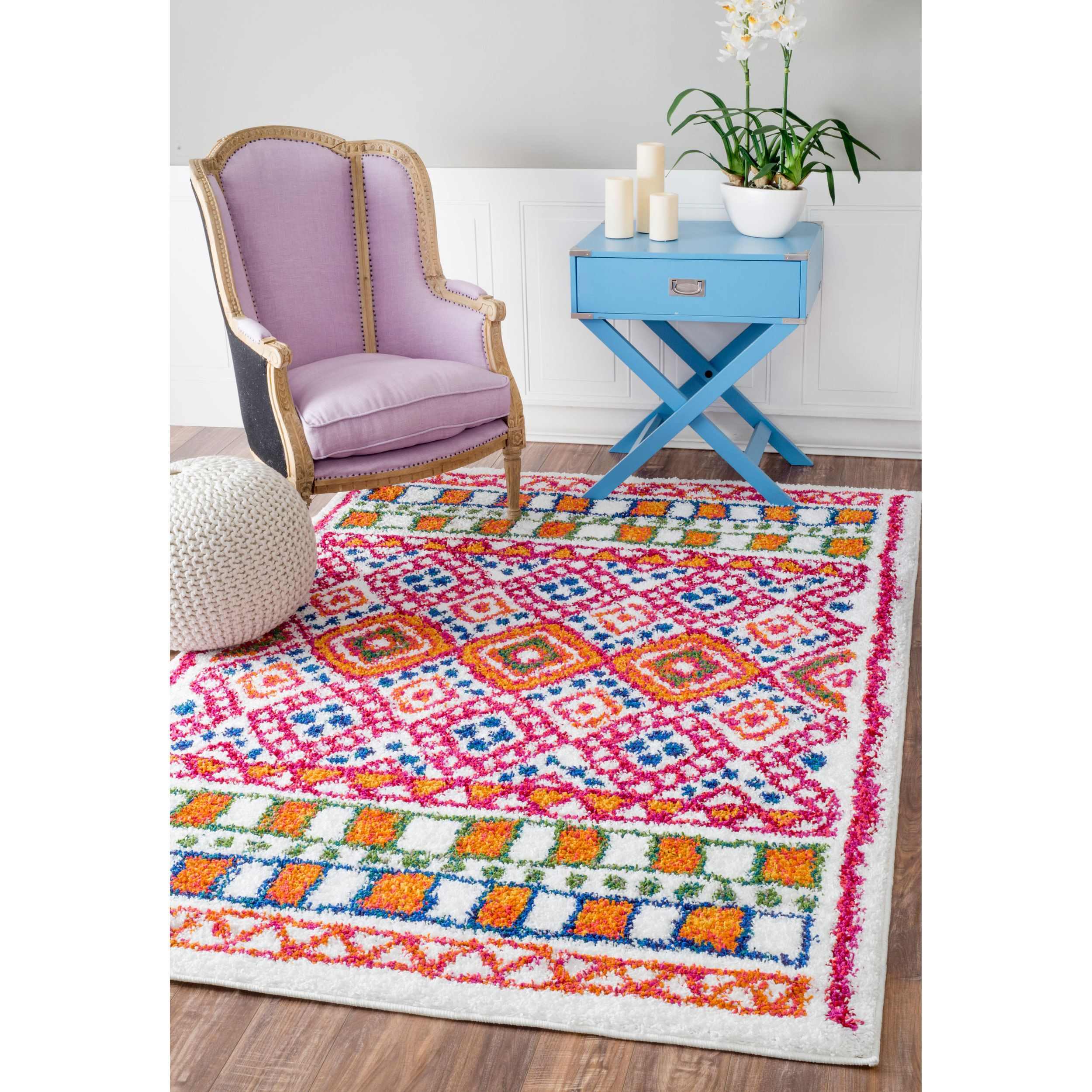 nuLOOM Soft and Plush Diamond Trellis Multi Kids Shag Rug (5'3 x 7'8) - Overstock Shopping - Great Deals on Nuloom 5x8 - 6x9 Rugs