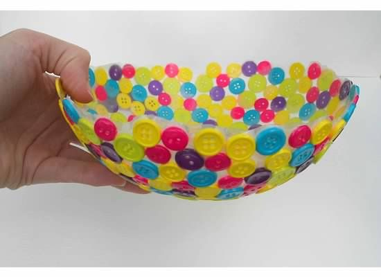 Unique Decorative Bowls Create A Unique Bowl Using Old Buttons  Button Bowl Bowls And Craft