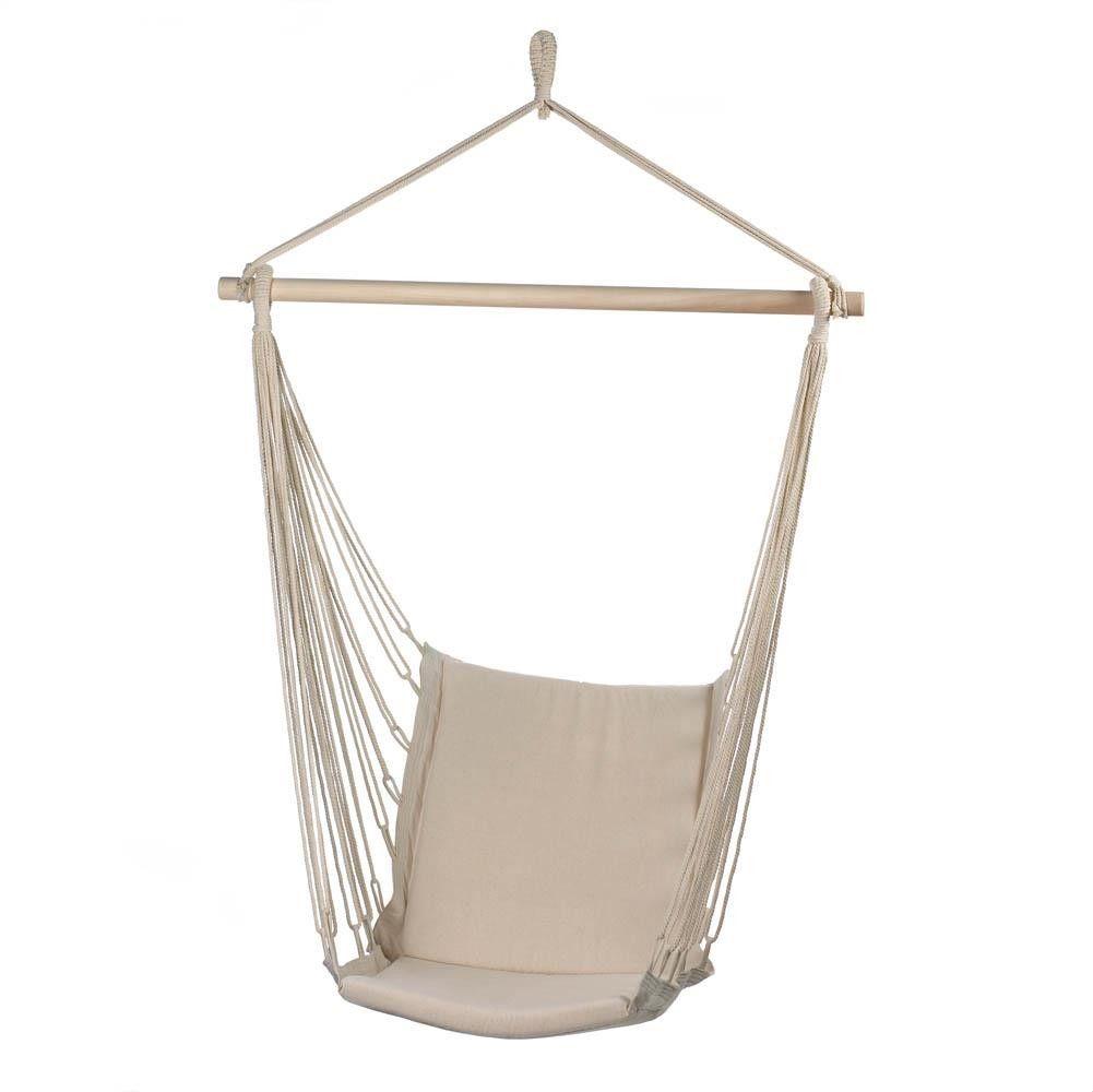 Cotton padded swing chair outdoor hammocks pinterest swing
