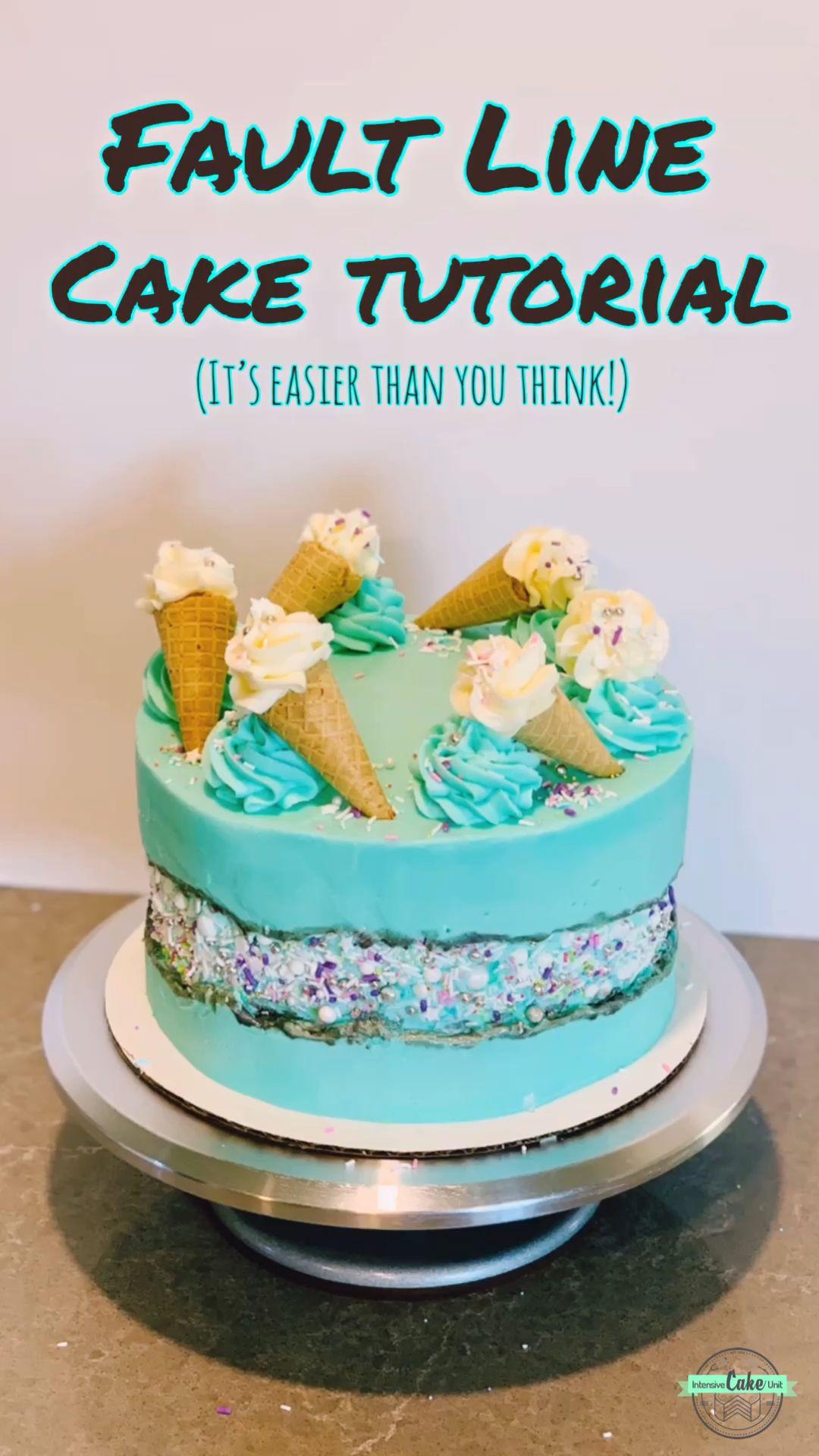 Fault Line Cake Tutorial  #cakedecoratingvideos