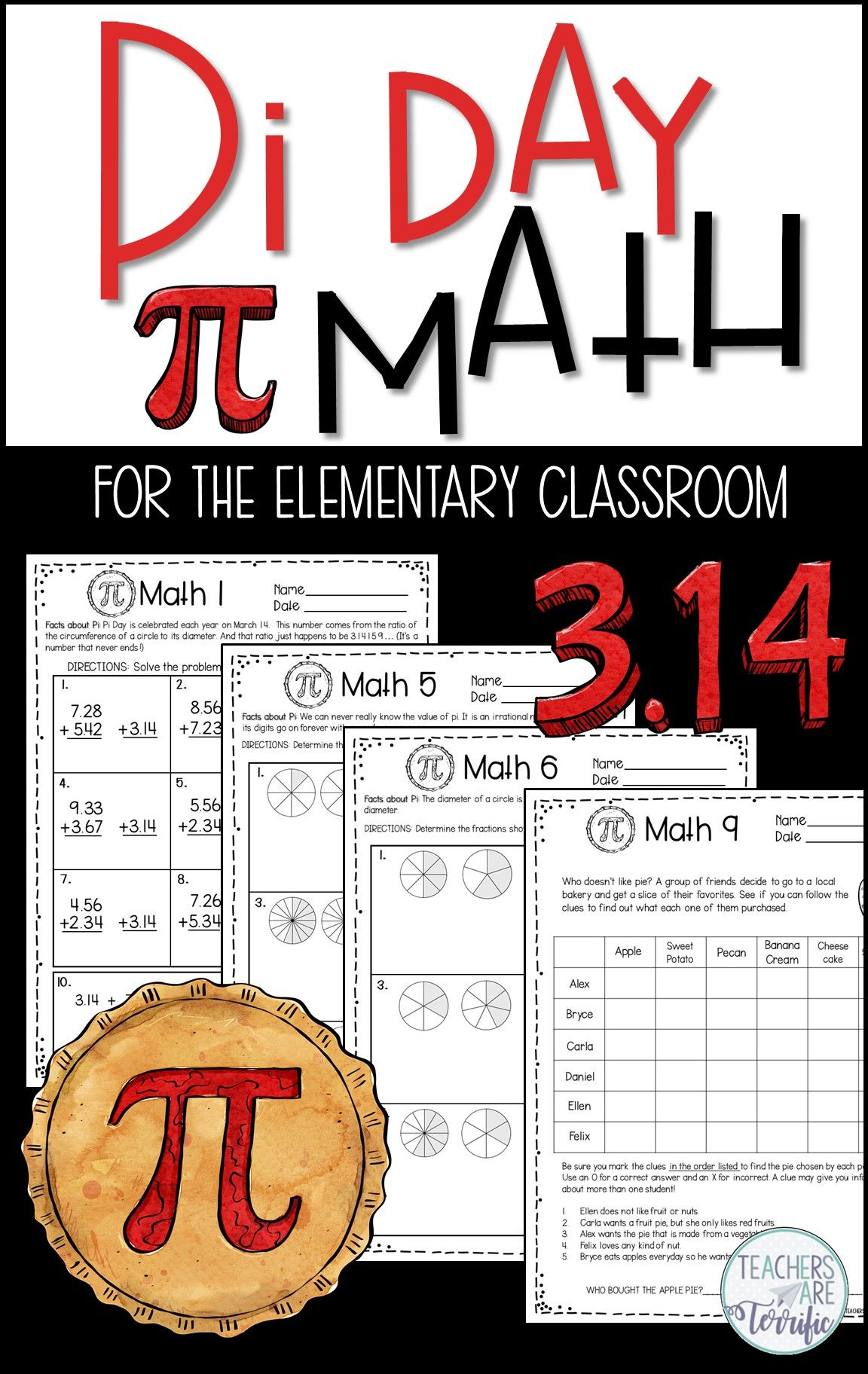 Pi Day Math Print And Solve Gr 5 In