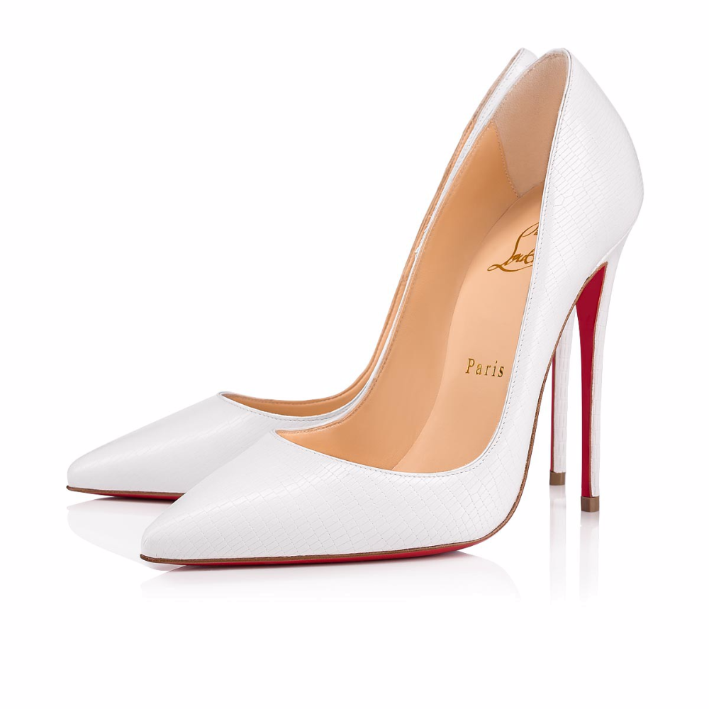 Photo of So Kate 120 White Leather – Women Shoes – Christian Louboutin – Heels