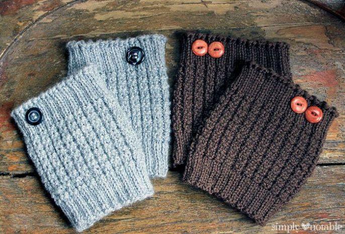Boot cuffs free knitting patterns.