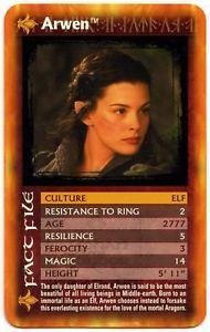 a arwen the lord of the rings the two towers top trumps card c443