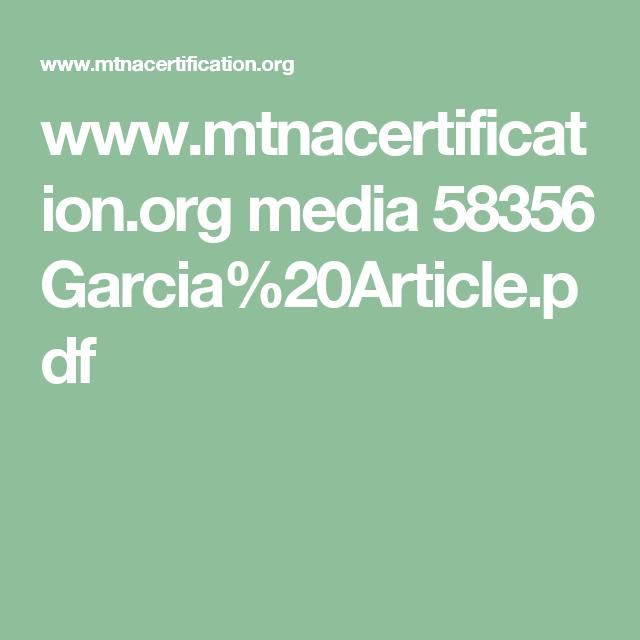 Mtnacertification Media 58356 Garcia20articlepdf Music