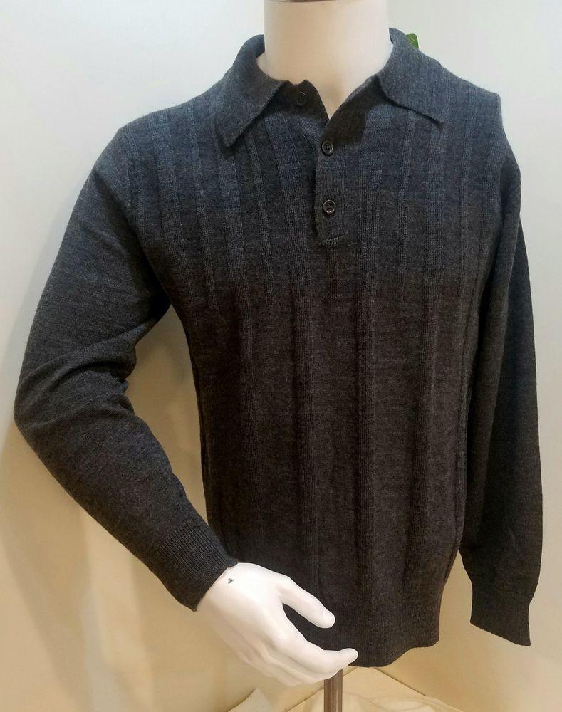 a403e1013 Valentino World Men s Merino Wool Long Sleeve 3 Button Polo Sweater   valentinoworld  Polo