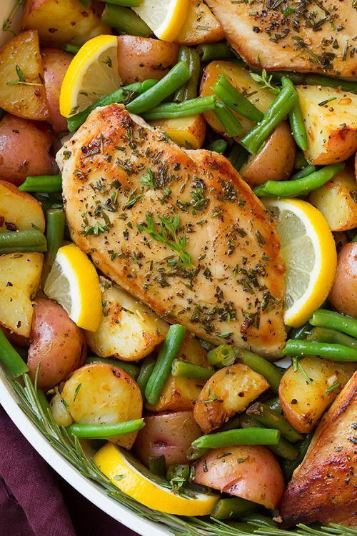 One Pan Garlic Herb Chicken and VeggiesReally nice recipes.  Mein Blog: Alles rund um die Themen Genuss & Geschmack  Kochen Backen Braten Vorspeisen Hauptgerichte und Desserts