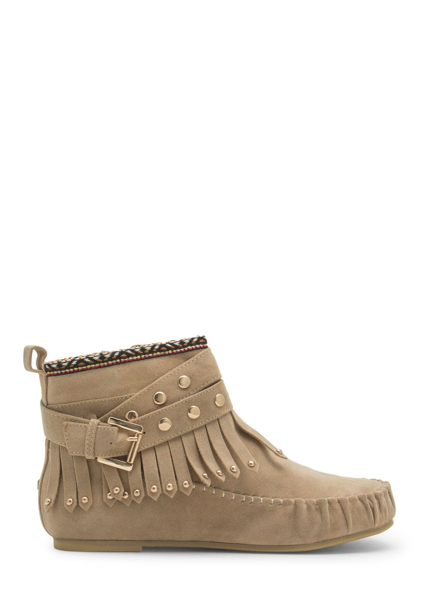 Tribal Talk Moccasin Booties