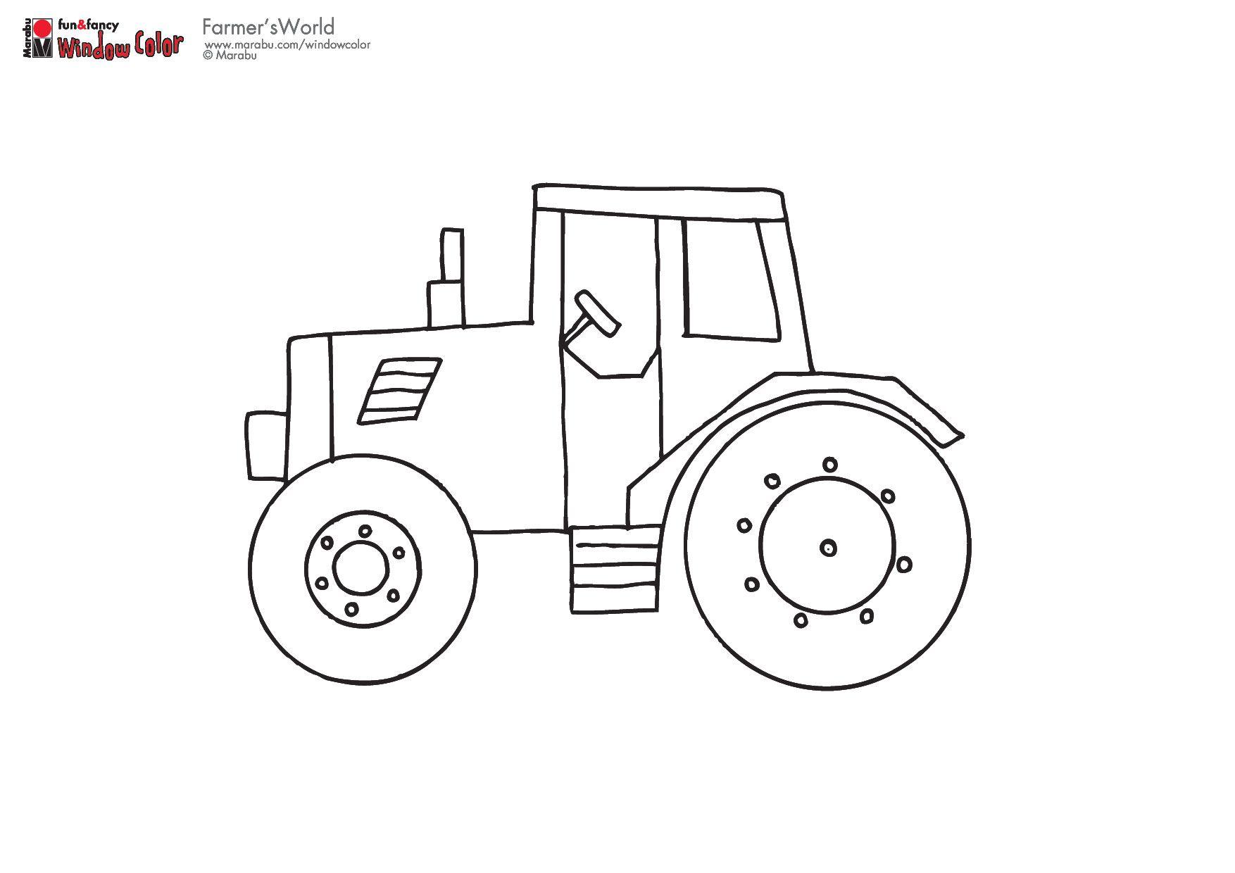 Tractor Malvorlagen Vorlagen Ausmalbilder Traktor