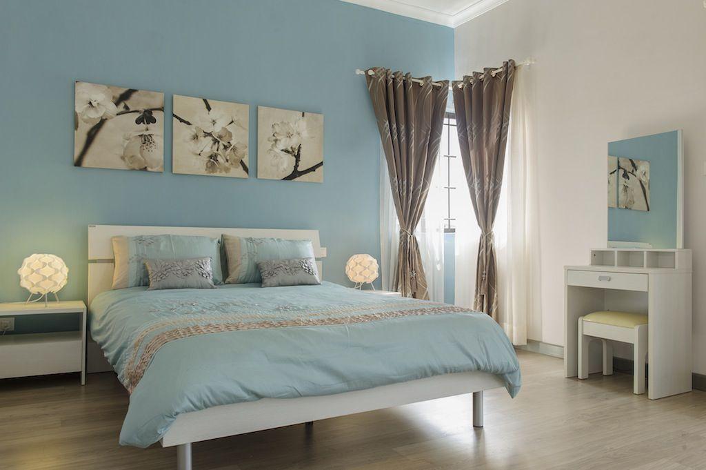 Chambre Bebe Bleu Turquoise Et Gris Fleur Bleue Avec Images