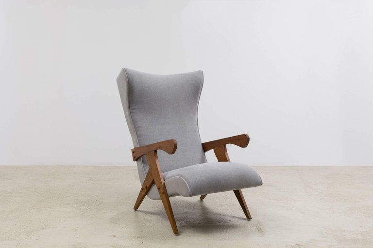 Cuca Armchair And Ottoman Set By Jose Zanine Caldas Available At ESPASSO.  Vintage And Contemporary Brazilian Design.