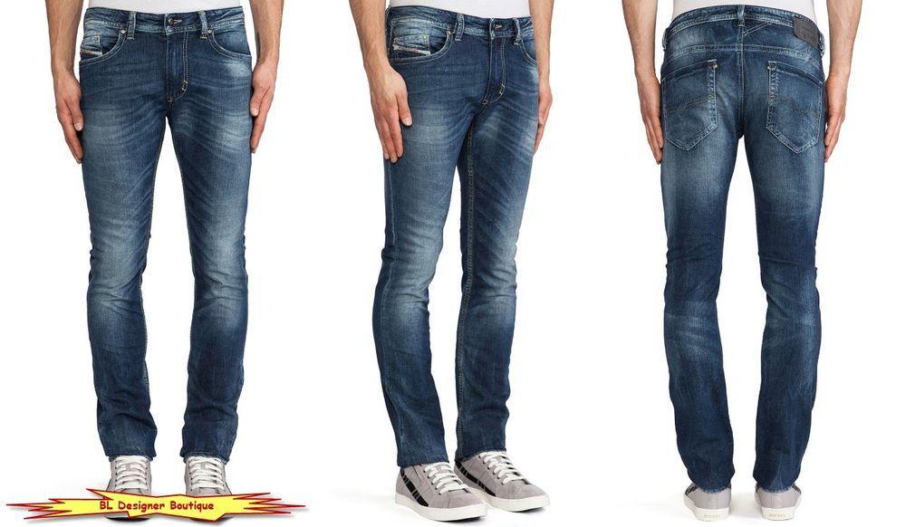 "DIESEL ""Thavar"" Slim Skinny Leg Stretch Cotton Blue Jeans 0827I NEW NWT  #DIESEL #SlimSkinny"