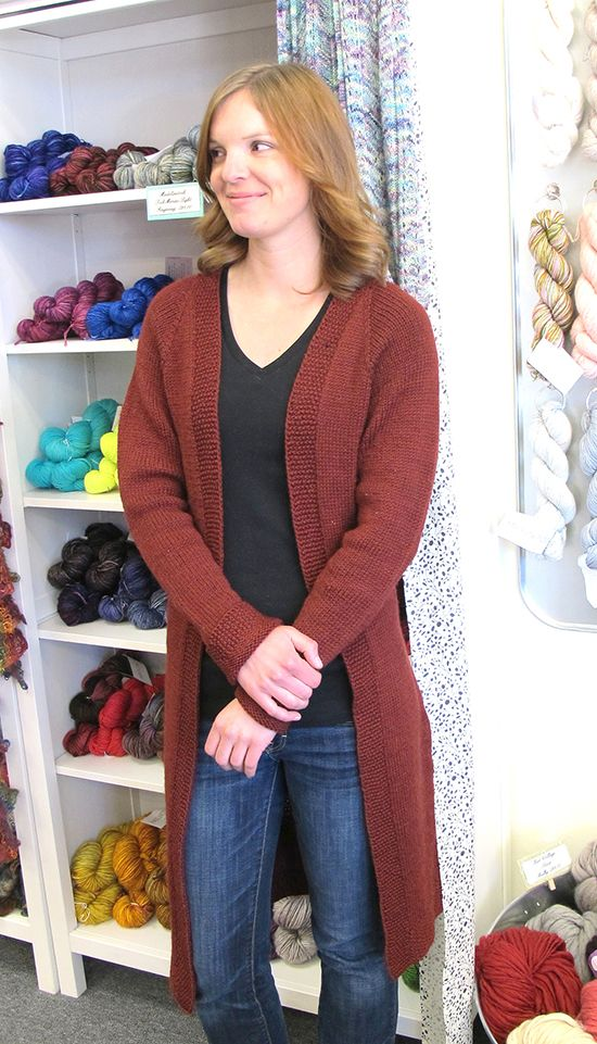 1405 Long Open Cardigan Knitting Pure And Simple Yarn Work