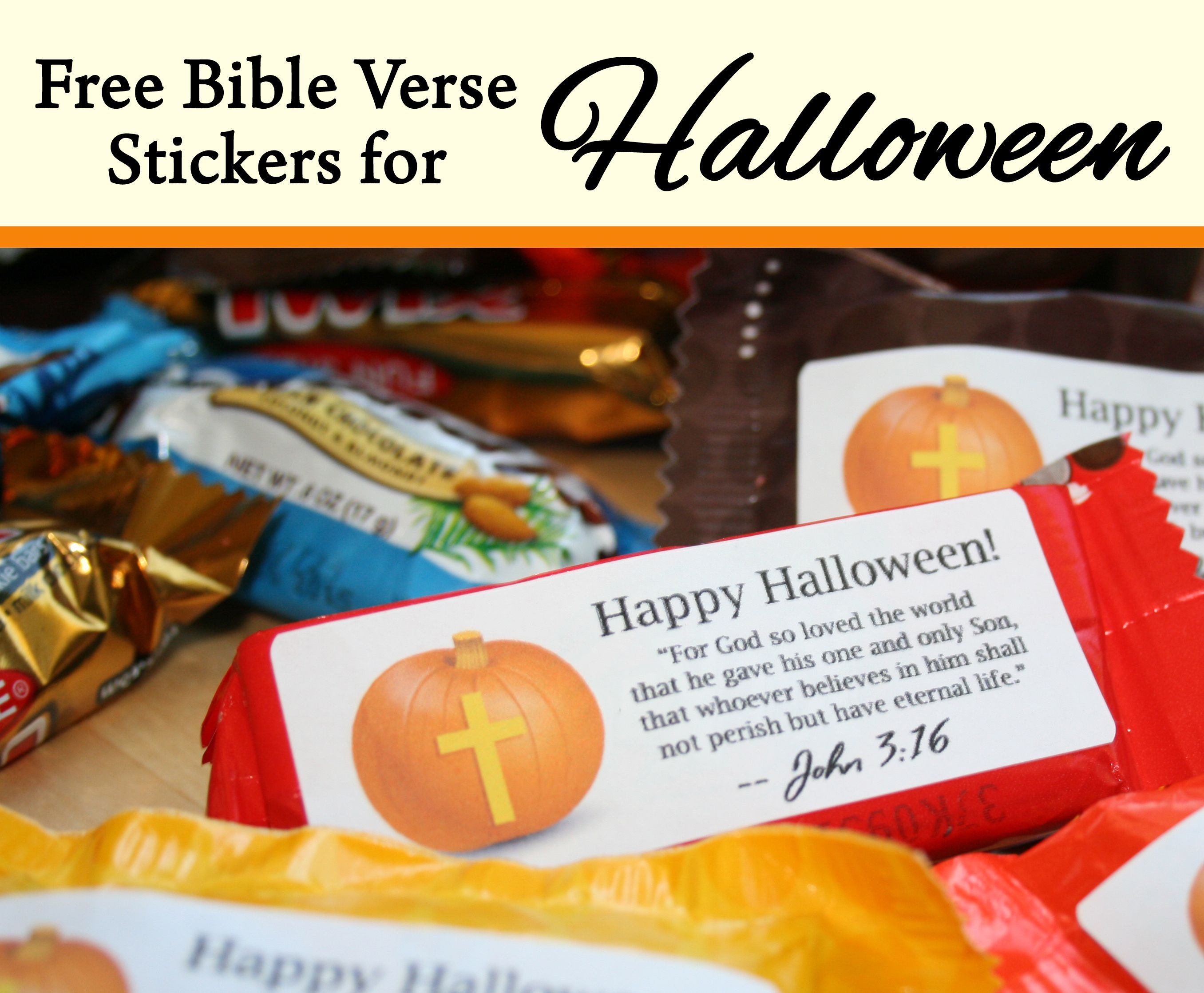 Bible Verse Label for Halloween Candy | fall festival ...