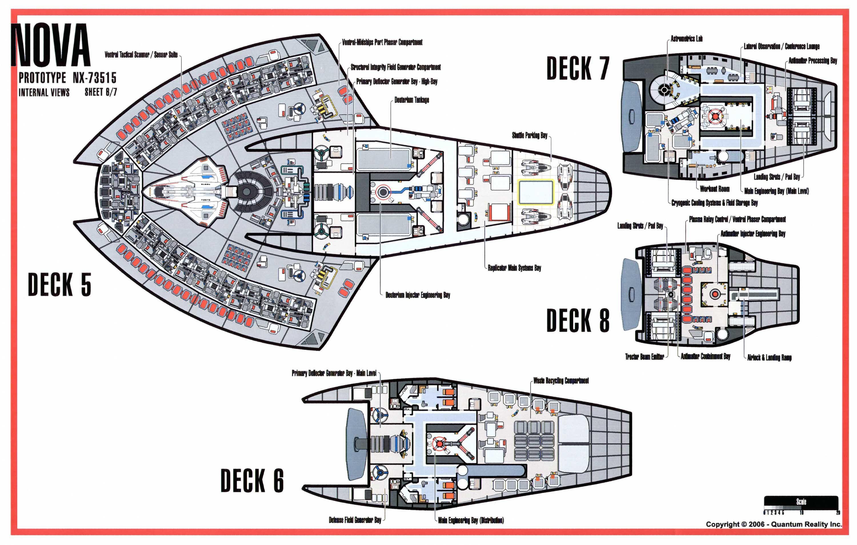 Technical Schematic Of Nova Class Starship Star Trek