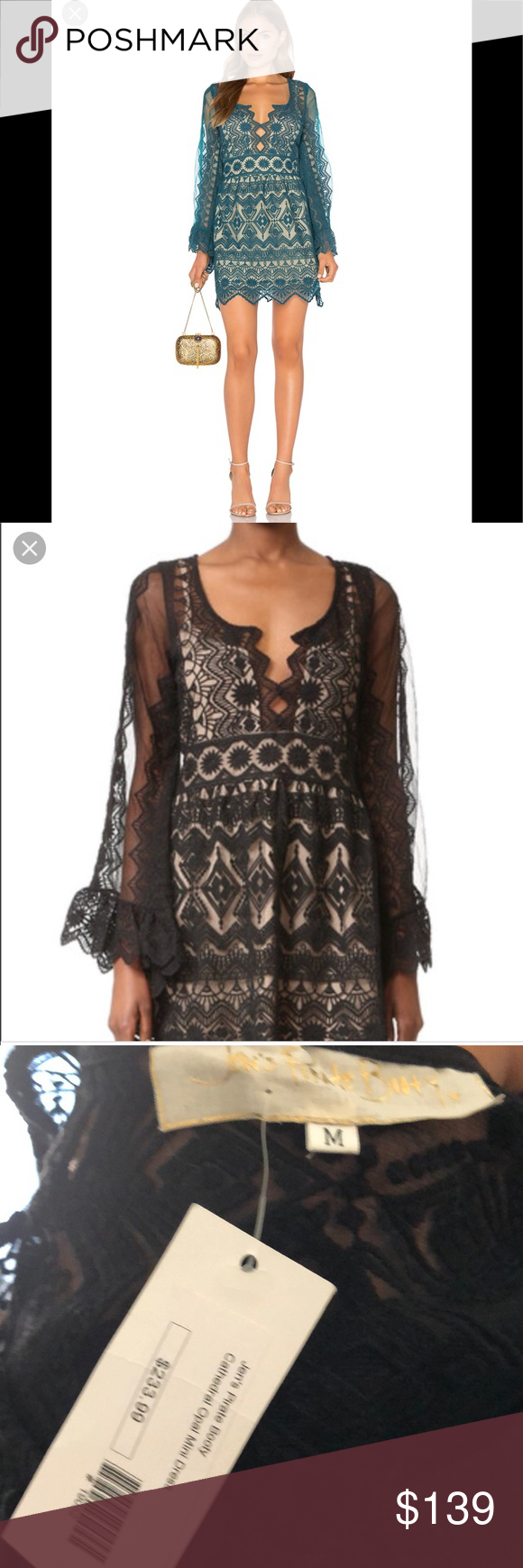 M boutique lace dress  NWT JENS PIRATE BOOTY CATHEDRAL OPAL MINI DRESSM Boutique  My Posh