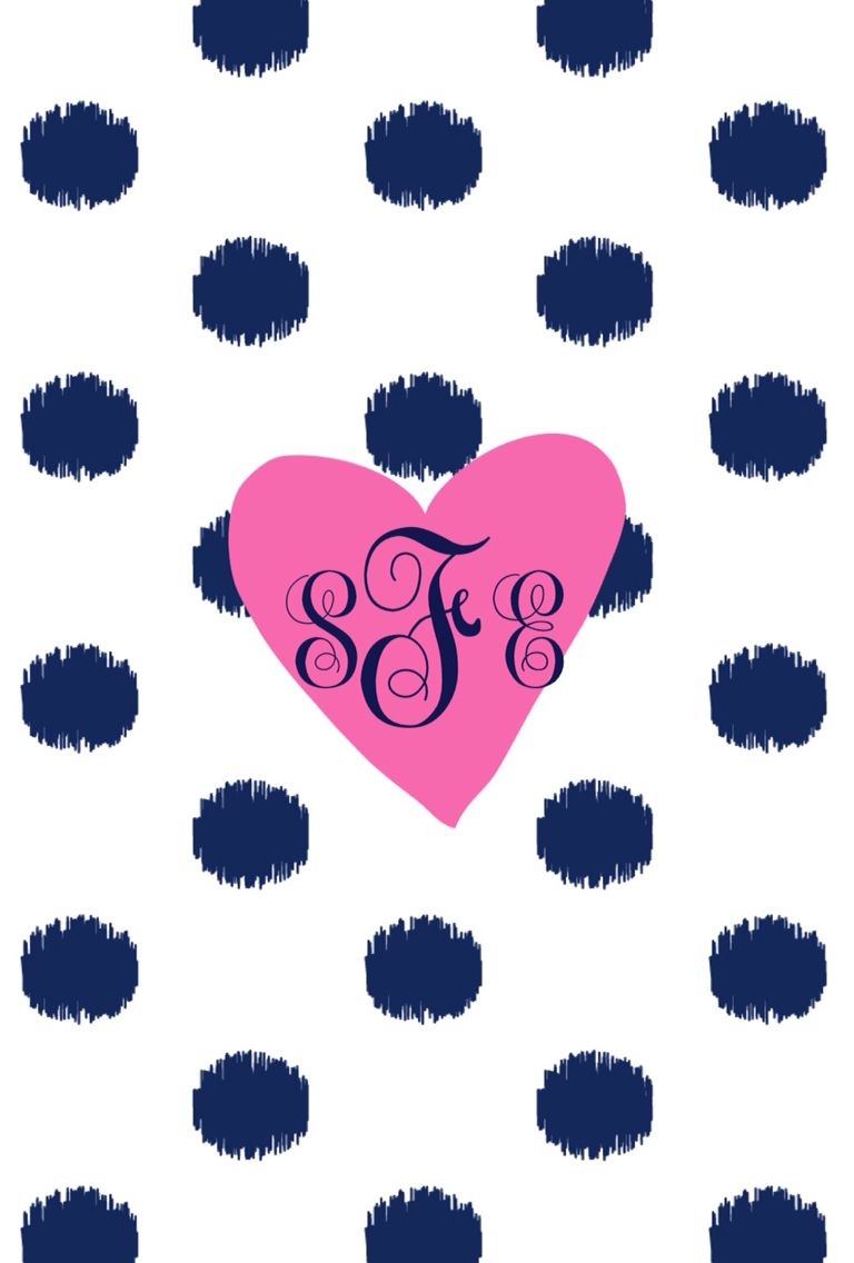 Initials Example monogram wallpaper. Make your own at the monogram app available on the App Store for $0.99