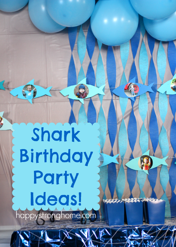 Shark birthday party ideas requins f tes et f te dinosaures for Requin decoration