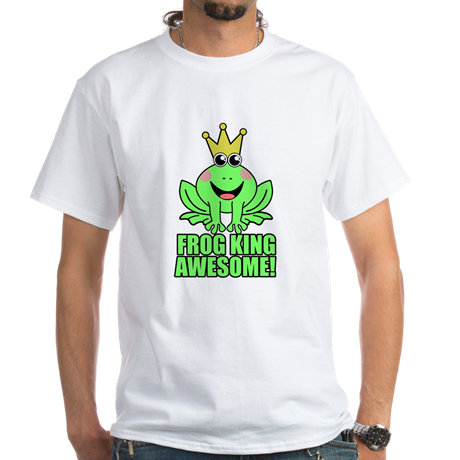 Restaurant Kitchen Jokes frog king awesome women's classic white t-shirt | animal puns