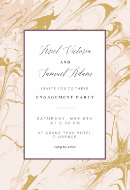 Marble Engagement Party Invitation Template Free Greetings Island Cheap Wedding Invitations Engagement Party Invitations Wedding Invitations