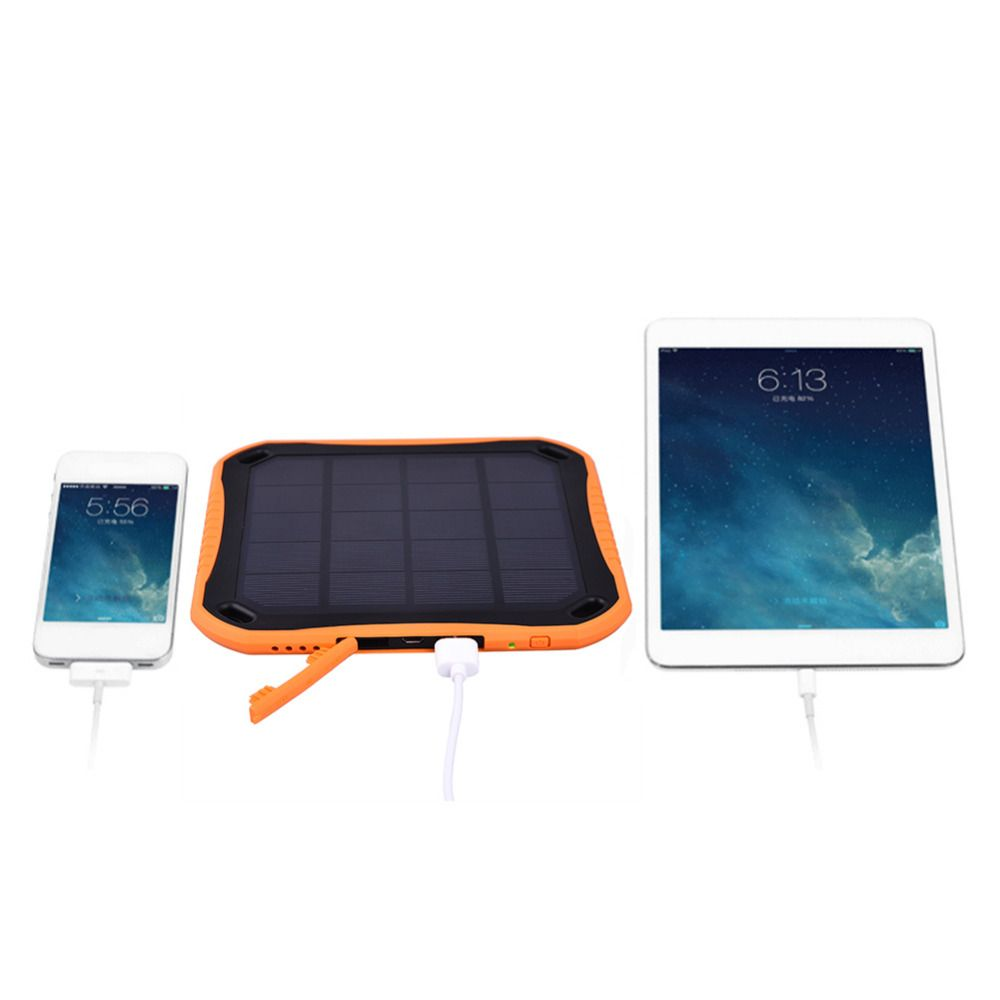 Discounts Prices Sungzu 5600mah Solar Charger Waterproof Phone External Battery Dual Usb Power Bank For Iphone 5 5s 6 6s With Led Light Lamp Pwv0iikc Black