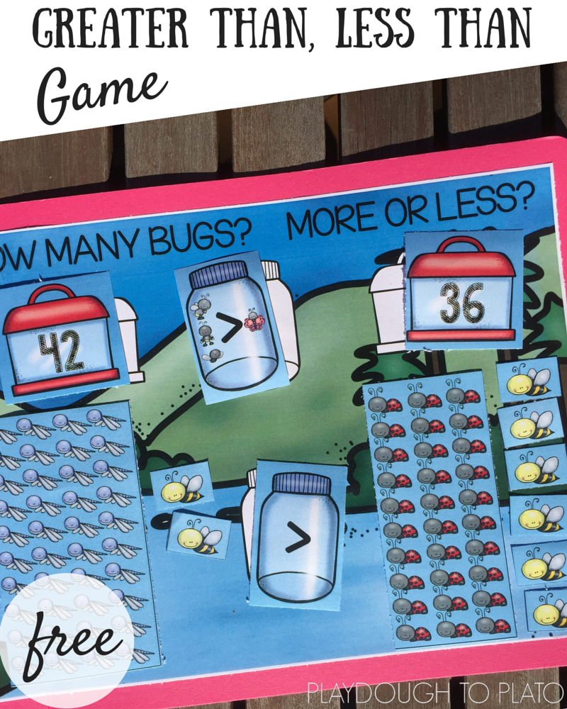 Greater Than, Less Than Game for Early Learners | File folder games ...