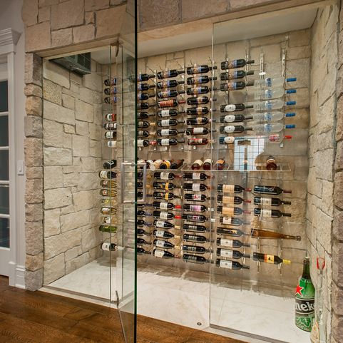 STORAGE - SIDE VIEW --------Cave a Vin Design - contemporary ...