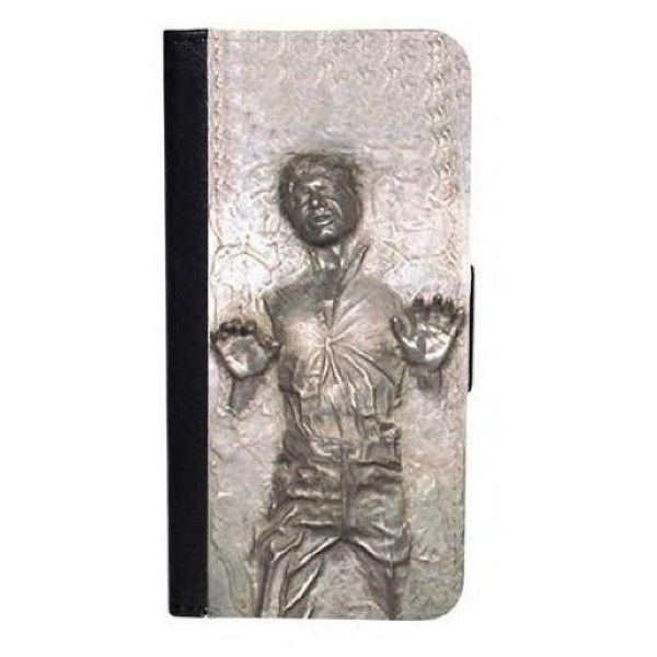 CellPowerCasesTM Han Solo Carbonite (Flat Back) iPhone 6 (4.7) Bi-fold... (21 AUD) ❤ liked on Polyvore
